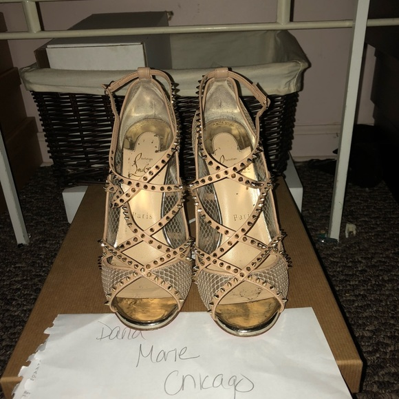 352d97b75734 Christian Louboutin Shoes - CHRISTIAN LOUBOUTIN ALARC 100mm SIZE 37